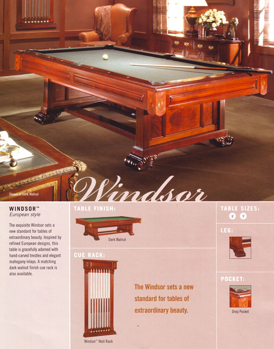 Brunswick Latest Pool Tables Cues And Accessories - Brunswick windsor pool table